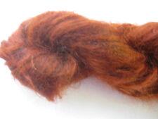 100gm Brushed Mohair Designer Hand-dyed Yarn Classy Burnt Orange  Knitting 170m