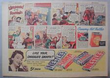 Nestle's Chocolate Bars Ad: Discovered at Fountain! 1930's-1940's 11 x 15 inches