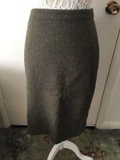 Joules Isadora Herb Green Tweed Wool Blend Pencil Skirt Size 18 BNWT