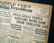 Famous NOTRE DAME Fighting Irish vs. USC Trojans Football UPSET 1931 Newspaper