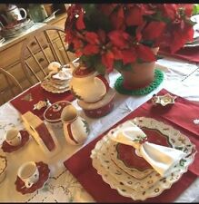 Set of FOUR Villeroy & Boch Toy's Delight Square Dinner Plates-NEW