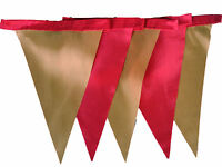 Red and gold single sided bunting wedding birthday halloween christmas