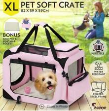 XL Foldable Pet Carrier Portable Soft Crate Cage Dog Cat Travel Bag Kennel PINK