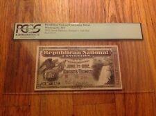 1892 Republican National Convention Ticket Pass President Benjamin Harrison PCGS