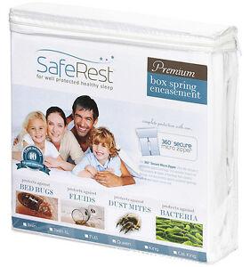 Full SafeRest Premium Hypoallergenic Bed Bug Proof Box Spring Encasement