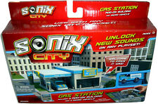 Sonix City Gas Station Add-On Expansion Micro Building Playset MIB With Vehicle