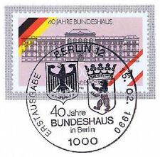 Berlin 1990: Bundeshaus 40 Jahre! Nr. 867 mit Ersttags-Sonderstempel! 1A 1512