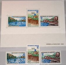 DAHOMEY 1967 325-27 Block 10 241-43a Olympics 1968 Grenoble Mountains Berge MNH