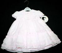 NWT Sarah Louise England Boutique Roses Tiered Dress (No smocked) Girl 12 Months