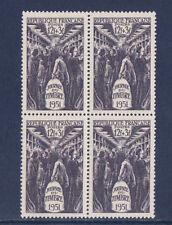 1/ timbre France  bloc de 4    journée du timbre  1951    num: 879  **