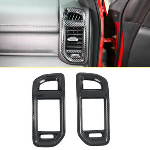 Carbon Fiber Inner Side Air Vent Cover Trim 2pcs For Dodge Ram 1500 2019-2020