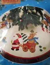 Vintage Titan Needlecraft Xmas Felt Tree Skirt Sealed Kit Santa 1987 Never used