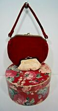 Vintage Markay Red Velvet Handbag and Hat Box
