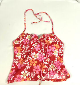 Victoria's Secret 36B Tankini Swim Top UW Red Floral