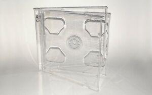 12x Doppel CD Jewel Case, Leer-Hüllen, transparent für 2 CD/DVD, 2fach Leerboxen