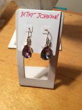 $25 Betsey Johnson teardrop crystal drop earrings Z 16