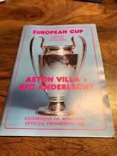 European Cup Teams A-B Aston Villa Final Football Programmes