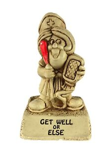 Vtg Paula 1976 Statuette Get Well or Else Nurse with Enema Bag Russ Berrie W-497