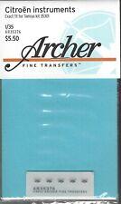 Archer 1/35th Scale Citroen Instruments Dry Transfers Item No. AR35376