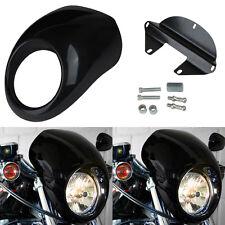 Lampenmaske Scheinwerfer Verkleidung Fairing Für  Harley Dyna Sportster FX XL