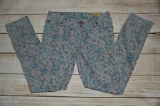 NWT GIRLS 14 RALPH LAUREN BOWERY SKINNY BLUE PINK GREEN STRETCH FLORAL JEANS