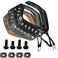 ABS Helmet Accessory Rail Mount Kit Side Guide Sand