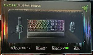 RAZER ALL-STAR GAMING BUNDLE Includes VIPER BLACKSHARK X ORNATA GIGANTUS XXL
