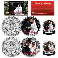 PRINCE HARRY & MEGHAN MARKLE Official Royal Wedding Photos JFK 2-Coin U.S. Set