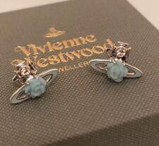 Vivienne Westwood Rose Bas Relief Earrings - Aqua