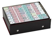Dominoes Double 18 Color Dot Set Of 190 Pcs Professional Size White Tile New