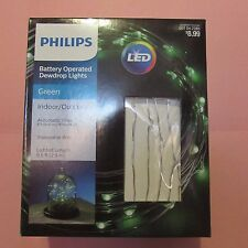 Philips LED Battery Operated Shapeable Wire Dew Drop Lights-Green-St. Patrick's