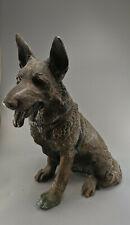 SCHÄFERHUND SKULPTUR, Hund, China, Fundzustand, 37 cm - 20. Jhd. [C32614]