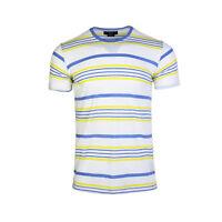 Beautiful Giant Men's Casual Striped Short Sleeve T-shirt Sports Tee White S-XL