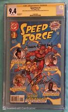 SPEED FORCE #1 CGC 9.4 SS - signed 3x Augustyn, Rousseau, Waid - Flash