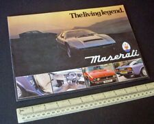 Maserati Kyalami, Merak SS & Khamsin. Modena UK Catalogue Brochure Vintage 1980s