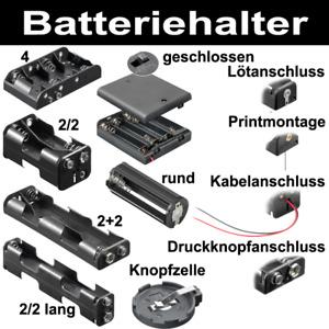 Batteriehalter für 9V-Block Knopfzelle AAA Micro C Baby R14 D Mono R20