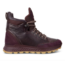 ECCO - Women's Exostrike Shinebright Boot Fig Burgundy Leather EU 39 US 8 or 8.5