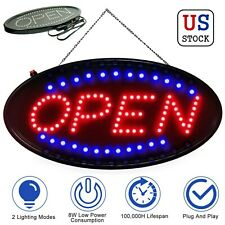 New listing Led Ultra Bright Store Open Business Sign Neon Light Flash Ad Board Bar Cafe Kit