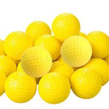 30Pcs Yellow PU Foam Golf Balls Sponge Elastic Indoor Outdoor Practice Training