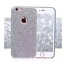 Coque Silicone Semi Rigide Brillant Strass Bling Bling Argent Silver Iphone X /