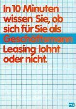 VAG Privat Leasing Prospekt 1982 7/82 brochure Finanzierung broschyr VW Audi