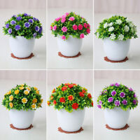 Home Office Garden Artificial Potted Flower Fake Bonsai Plant-Decorations Gifts