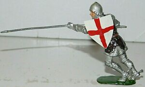 Old BRITAINS 1950s Lead, Knight of Agincourt On Foot w/Lance, From Set #1664, O