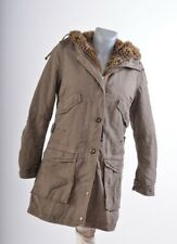 Parajumpers Womens All seasons Hooded Parka Coat Size XS Faux Fur Halfly Lined