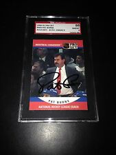 Pat Burns Signed 1990-91 Pro Set Rookie Card SGC 8 Auto 9 Slabbed #AU153473