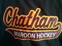 Player worn  Chatham Maroons team jacket GOJHL OHA