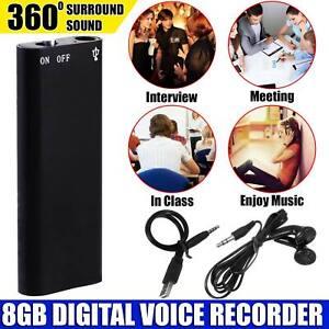 Mini Spy 8GB Recording Audio Recorder Voice Listening Device 96 Hours Bug UK Sel
