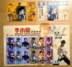 China Hong Kong 2020 Bruce Lee Stamps set Martial Art  李小龍 + MINI + $10 $20 S/S