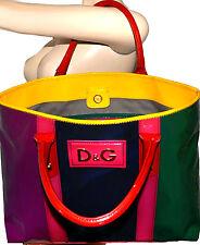 Dolce & Gabbana D&G Multicolor Patent Leather MISS ESTELLA Tote Handbag Bag