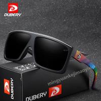 DUBERY Men Polarized Sunglasses Outdoor Driving Fishing Large Frame Glasses New